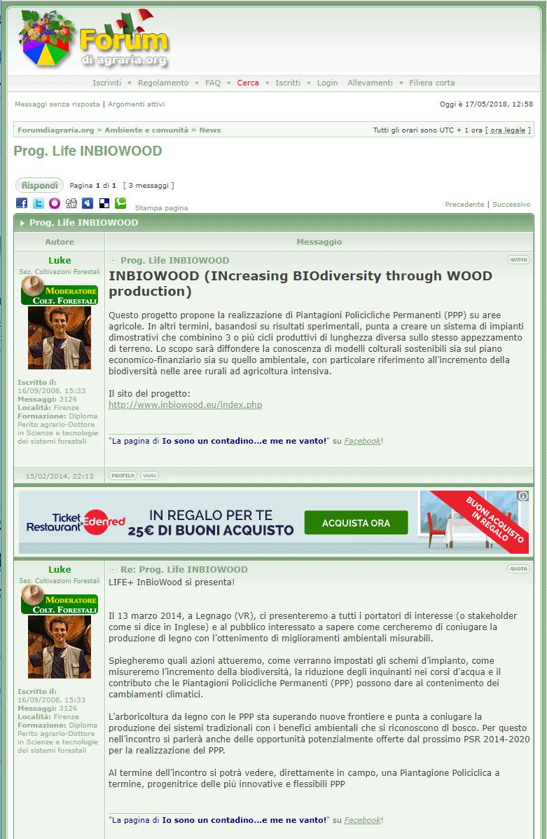 INBIOWOOD (INcreasing BIOdiversity through WOOD production)