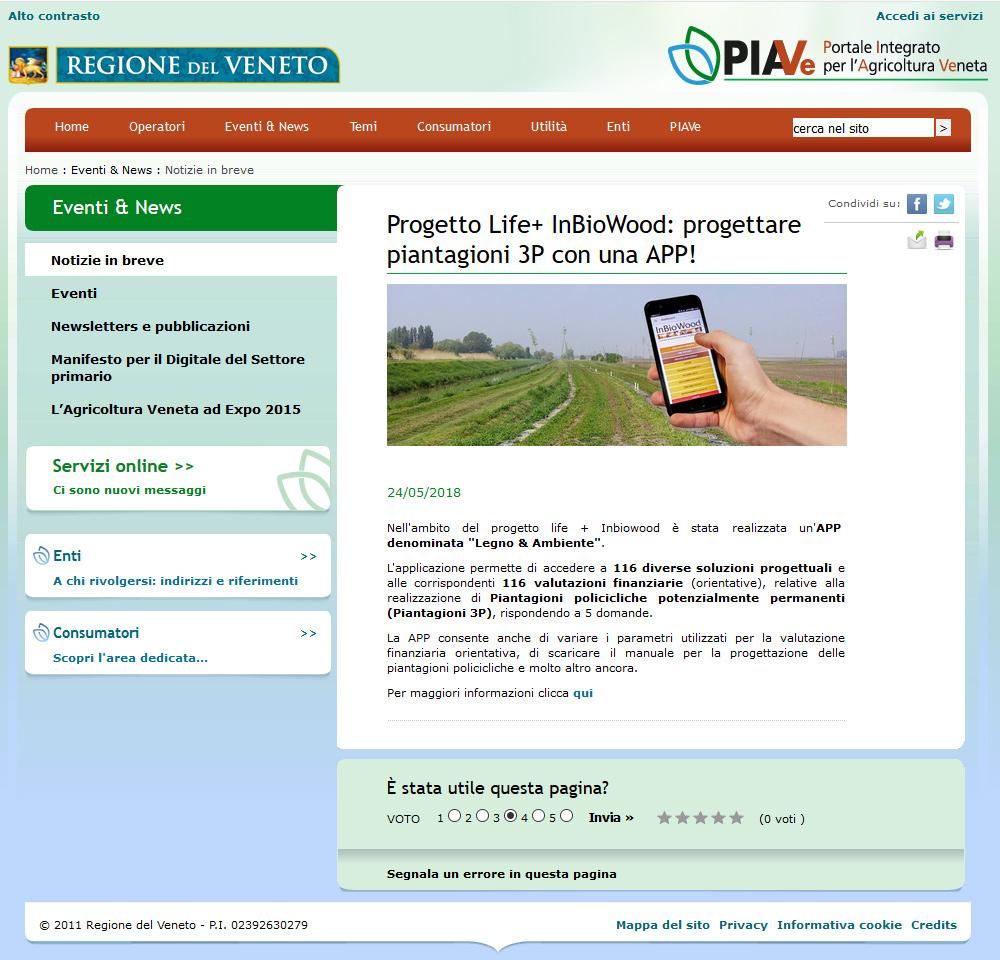 Progetto Life+ InBioWood: progettare piantagioni 3P con una APP!