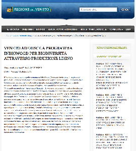 Veneto aderisce a Programma InBioWood per biodiversità attraverso produzione legno